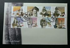 Portugal Pillories 2001 Historical Building Heritage (stamp FDC)