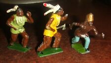 Britains Or Britains Genre American Indian Figures x 3.