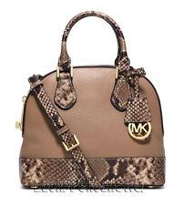 NWT Michael Kors Handbag Smythe Small Embossed-Leather Satchel Shoulder Bag $278
