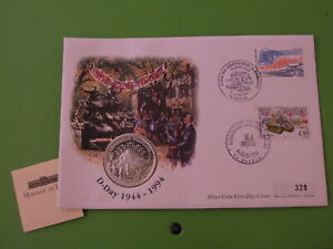MERCURY SILVER FRANCE 1 FRANC COIN COVER 1994 D-DAY