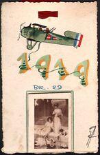 Aviation. BR29. Carte dessinée avec calendrier pour 1919