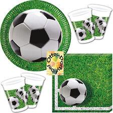 Fußball Football Soccer Partyset 52 Teile für 16 Kinder Teller Becher Servietten