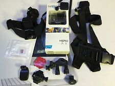 GoPro HD Hero HWBL1 CHDHA-301+16gb-Headstrap-Bike Chest Tripod Rotating Mount's
