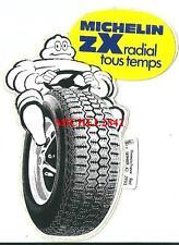 Autocollant sticker Michelin ZX radial jaune pneu tyre