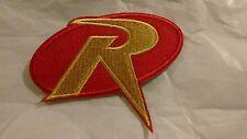 DC Comics Batman Embroidered Robin Logo Iron On Patch