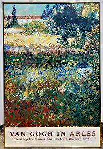 POSTER, Van Gogh in Arles, 1984 exhibition print, Metropolitan Museum of Art,35t