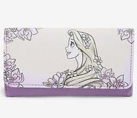Disney Loungefly Tangled Rapunzel Sketch Flap Billfold Trifold Wallet