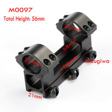 """Tactical 1"""" Rings 21mm Weaver Picatinny Rail QD Scope Mount for Riflescope Torch"""