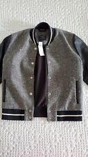 ABERCROMBIE & FITCH varsity jacket black/white Women size S NWT