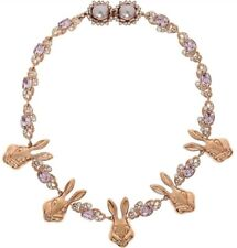 MAWI LONDON Rose Gold Bunny Love  Necklace With Crystals £433