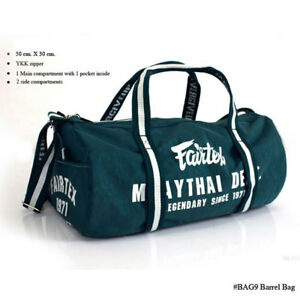 Fairtex Bag Retro Style Barrel bag Holdall Muay Thai Boxing Gym Training BAG9