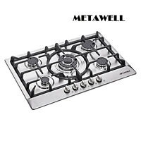 30 inch Stainless Steel 5 Burner Built-In Stoves NG LPG Gas Cooktop Cooker