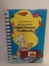 Tony Chachere's Micro-Wave Cajun Country Cookbook Seafood Wilgame & Cajun Style
