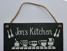 Personalised Kitchen Sign Hanging Sign Kitchen Plaque Personalised Xmas Gift