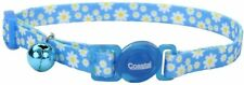 """Coastal Pet Daisy Blue Breakaway Cat Collar 8-12"""" neck with bell safe safety"""