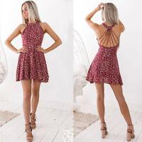 Evening Cocktail Party Beach Dresses Sundress Women Summer Boho Short Mini Dress