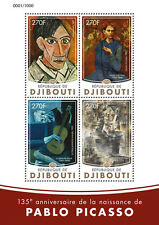 Djibouti 2016 MNH Pablo Picasso 4v M/S Rose Blue Period Cubism Paintings Stamps