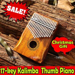 Musical 17-key Kalimba Portable Thumb Piano Mbira Mahogany Wooden w/Carry Bag