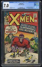 X-Men #4 CGC 7.0 (Marvel 3/64) 1st app Scarlet Witch, Quicksliver, 2nd Magneto