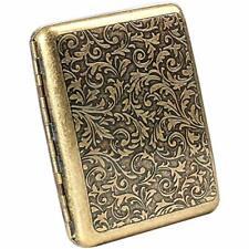 Cigarette Case 85mm King Size 18 20 Capacity Sturdy Holder Metal Retro Grass