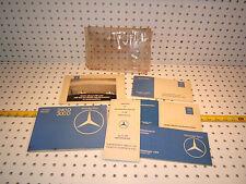 Mercedes W123 1977 240/300D Diesel owners's OEM 1 set of 6 Manuals MBZ 1 Pouch