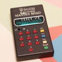 VINTAGE Retro INVICTA ELECTRONIC MASTER MIND GAME 1977 working order