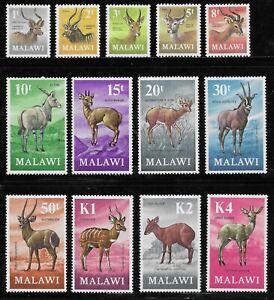 MALAWI 1971-75 Antelopes set of 13 complete MNH SG £38 (2011)