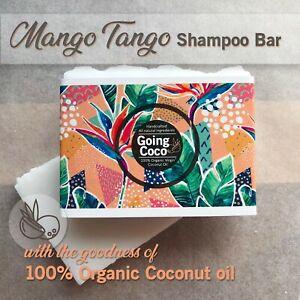 NEW-Organic COCONUT OIL SHAMPOO Bar -Mango Tango- Natural/Vegan-Normal/comb hair