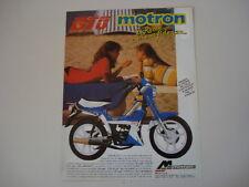 advertising Pubblicità 1988 MOTRON GTO