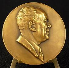 Médaille Scientifique Pierre Depoid Statistique Statisticien par Vernon Medal 铜牌