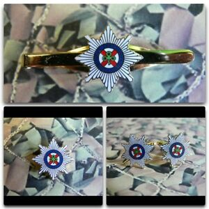 Irish Guards Lapel / Cuff Links / Tie Bar Gift Set