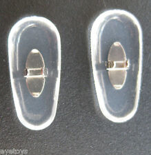 2 pairs  17 mm Clip on Silver replacement  nose pads for Ray Ban frames, PVC