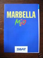 Seat Marbella Mio Sondermodell, Prospekt / Brochure