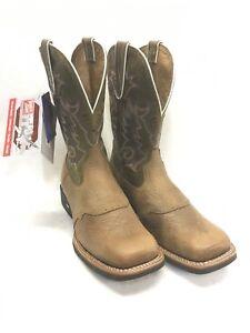 Men's Tony Lama Boots-Sand Tonkawa Vamp w/Olive Baja Shaft Style XT6018