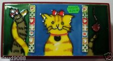 BENAYA HAND CRAFTED ART ON TILE DECORATIVE LACQUER BOX & CAT TILE 523278 MINT