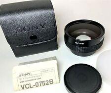 VINTAGE SONY Wide Conversion Lens VCL-0752B x0.7 Original Sony Case & Lens Caps