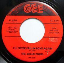 MELLO-TONES 45 I'll Never Fall In Love Again / Rosie Lee Doo Wop ORIG e7435