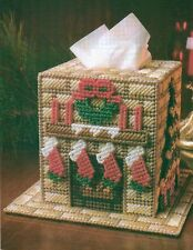 CHRISTMAS HOME TISSUE TOPPER COVER PLASTIC CANVAS PATTERN INSTRUCTIONS