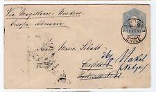 CHILE 1892 Santiago to Hamburg Germany by Magallanes