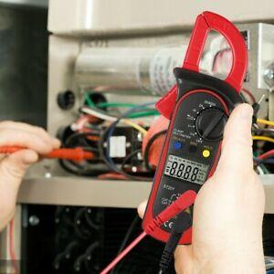 True RMS Digital Clamp on Meter Multimeter DC/AC Volt Amp Ohm CAP NCV LCD Tester