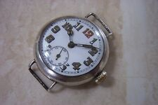 A WW1 SILVER CASED OFFICERS TRENCH WATCH c.1916