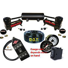 Voltair 444C Black Air Compressors & 3 Gallon Air Tank Ride bag kit 200psi shown