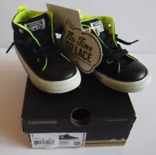 New Converse Chuck Taylor Infant Toddler Size 7 Slip On Collection Black Lime