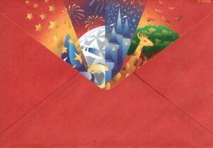 Vintage Walt Disney World Epcot Animal Kingdom Lined Stationery - Partial Set