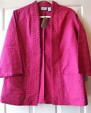 CHICO'S Origami Weave Sanja Jacket Pink Size 1 S Small 6  8  *NEW WITH TAGS*