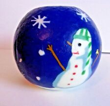 Stonia Creations Inc. Candle Blue Snowman Candle
