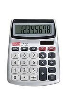 Staples SPL-230 8-Digit Display Calculator Angled Display Auto Shut Off Solar