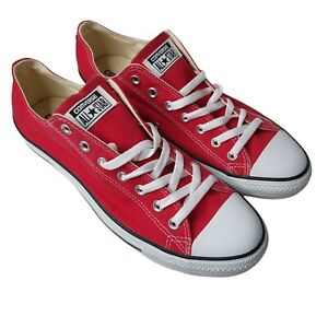 Converse Mens Chuck Taylor All Star OX X9696 Red White Lace Up Sneaker Size 11.5