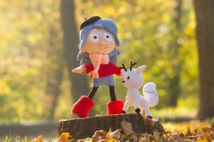 Hilda  plush , handmade Hilda doll, Hilda toy poseable