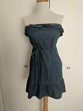 Auth Juicy Couture Jeans used Tube Sun dress ruffles S !!!!!!!!!!!!!!!!!!!!!!!!!